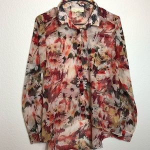 Anthropology Staring at Stars shear blouse Size S